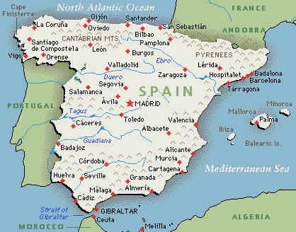 Map Of France Spain.Map Of Spain And France Recana Masana